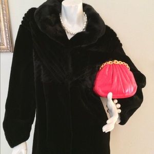 Hertzburg Black Sheared Mink Coat, New with tags,